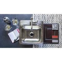 """Sinkology Homer 15"""" Drop-in Single Hole Nickel Bar Sink - Silver"""