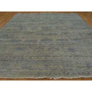 Handmade Rug Wool and Viscose Rayon from Bamboo Transitional Abrash (8'9 x 11'9)