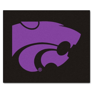 Fanmats Machine-Made Kansas State University Black Nylon Tailgater Mat (5' x 6')