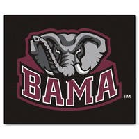Fanmats Machine-Made University of Alabama Black Nylon Tailgater Mat (5' x 6')