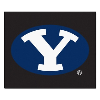 Fanmats Machine-Made Brigham Young University Black Nylon Tailgater Mat (5' x 6')