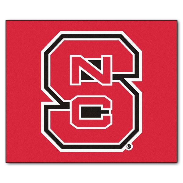 Fanmats Machine-Made North Carolina State University Red Nylon Tailgater Mat (5' x 6')