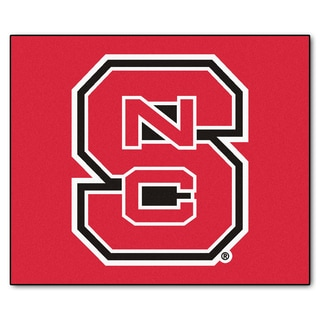 Fanmats Machine-Made North Carolina State University Red Nylon Tailgater Mat (5' x 6')