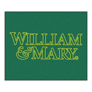 Fanmats Machine-Made College of William & Mary Green Nylon Tailgater Mat (5' x 6')