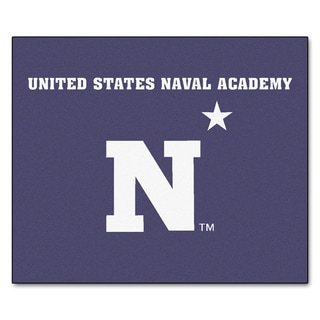 Fanmats Machine-Made US Naval Academy Blue Nylon Tailgater Mat (5' x 6')