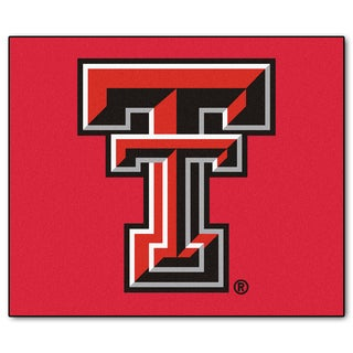 Fanmats Machine-Made Texas Tech University Red Nylon Tailgater Mat (5' x 6')