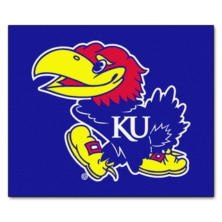 Fanmats Machine-Made University of Kansas Blue Nylon Tailgater Mat (5' x 6')