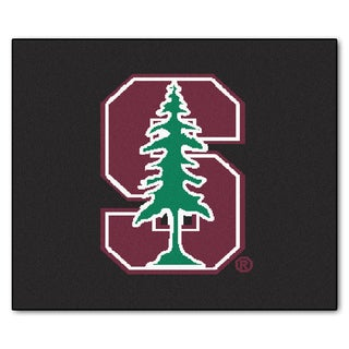 Fanmats Machine-Made Stanford University Black Nylon Tailgater Mat (5' x 6')