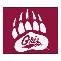 Fanmats Machine-Made University of Montana Red Nylon Tailgater Mat (5' x 6')
