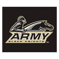 Fanmats Machine-Made US Military Academy Black Nylon Tailgater Mat (5' x 6')