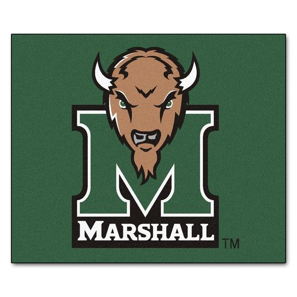Fanmats Machine-Made Marshall University Green Nylon Tailgater Mat (5' x 6')