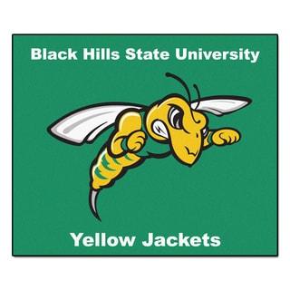 Fanmats Machine-Made Black Hills State University Green Nylon Tailgater Mat (5' x 6')