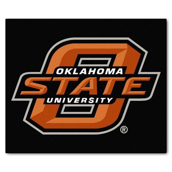 Fanmats Machine-Made Oklahoma State University Black Nylon Tailgater Mat (5' x 6')