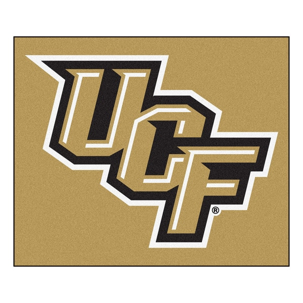 Fanmats Machine-Made University of Central Florida Gold Nylon Tailgater Mat (5' x 6')