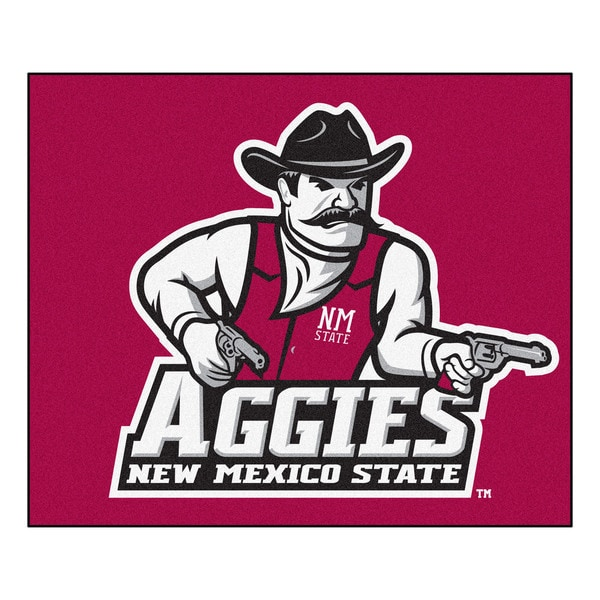 Fanmats Machine-Made New Mexico State University Red Nylon Tailgater Mat (5' x 6')