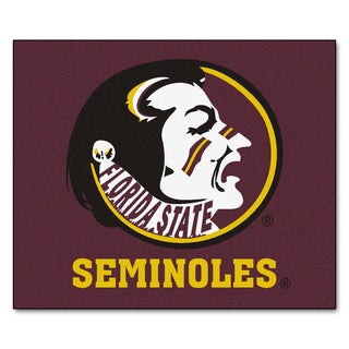 Fanmats Machine-Made Florida State University Burgundy Nylon Tailgater Mat (5' x 6')