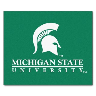 Fanmats Machine-Made Michigan State University Green Nylon Tailgater Mat (5' x 6')