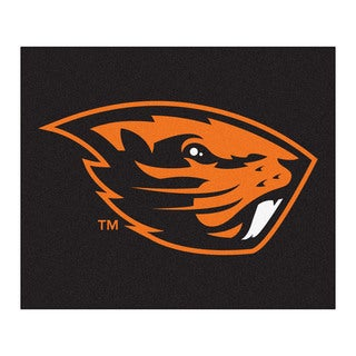 Fanmats Machine-Made Oregon State University Black Nylon Tailgater Mat (5' x 6')