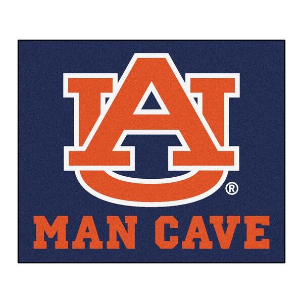 Fanmats Machine-Made Auburn University Blue Nylon Man Cave Tailgater Mat (5' x 6')