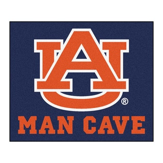 Fanmats Machine-Made Auburn University Blue Nylon Man Cave Tailgater Mat (5' x 6')