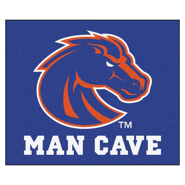 Fanmats Machine-Made Boise State University Blue Nylon Man Cave Tailgater Mat (5' x 6')