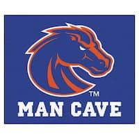 Fanmats Machine-Made Boise State University Blue Nylon Man Cave Tailgater Mat (5' x 6')