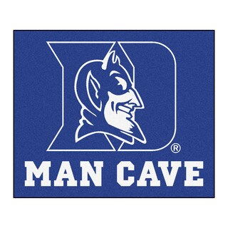 Fanmats Machine-Made Duke University Blue Nylon Man Cave Tailgater Mat (5' x 6')