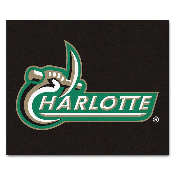 Fanmats Machine-Made University of North Carolina-Charlotte Black Nylon Tailgater Mat (5' x 6')
