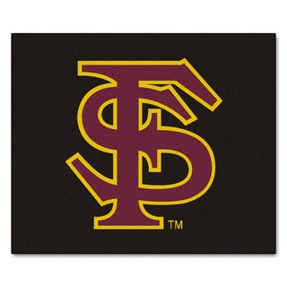 Fanmats Machine-Made Florida State University Black Nylon Tailgater Mat (5' x 6')