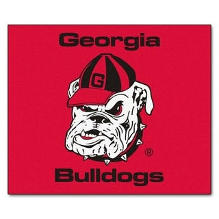 Fanmats Machine-Made University of Georgia Red Nylon Tailgater Mat (5' x 6')
