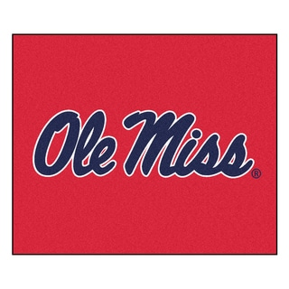 Fanmats Machine-Made Universityof Mississippi Red Nylon Tailgater Mat (5' x 6')