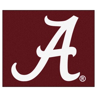 Fanmats Machine-Made University of Alabama Red Nylon Tailgater Mat (5' x 6')
