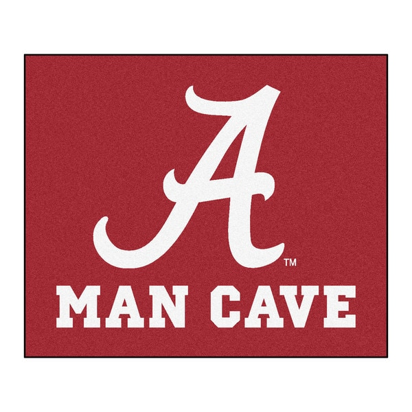 Fanmats Machine-Made University of Alabama Red Nylon Man Cave Tailgater Mat (5' x 6')