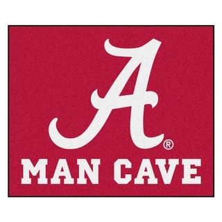 Fanmats Machine-Made University of Alabama Red Nylon Man Cave Tailgater Mat (5' x 6')