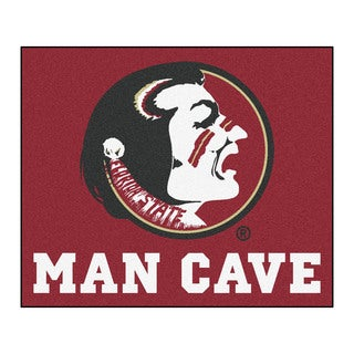Fanmats Machine-Made Florida State University Burgundy Nylon Man Cave Tailgater Mat (5' x 6')