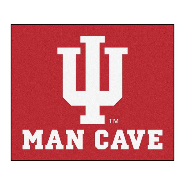 Fanmats Machine-Made Indiana University Red Nylon Man Cave Tailgater Mat (5' x 6')