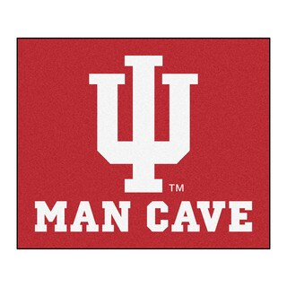 Fanmats Machine-Made Indiana University Red Nylon Man Cave Tailgater Mat (5' x 6')