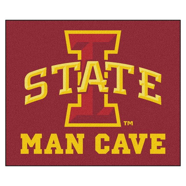 Fanmats Machine-Made Iowa State University Red Nylon Man Cave Tailgater Mat (5' x 6')