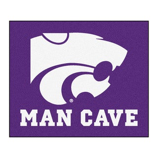 Fanmats Machine-Made Kansas State University Purple Nylon Man Cave Tailgater Mat (5' x 6')