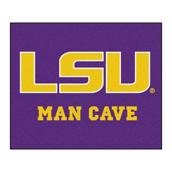 Fanmats Machine-Made Louisiana State University Purple Nylon Man Cave Tailgater Mat (5' x 6')
