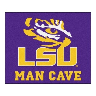 Fanmats Machine-Made Louisiana State University Purple Nylon Man Cave Tailgater Mat (5' x 6')