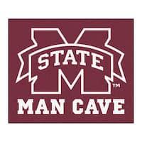 Fanmats Machine-Made Mississippi State University Burgundy Nylon Man Cave Tailgater Mat (5' x 6')