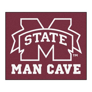 Fanmats Machine-Made Mississippi State University Burgundy Nylon Man Cave Tailgater Mat (5' x 6')