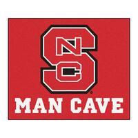 Fanmats Machine-Made North Carolina State Red Nylon Man Cave Tailgater Mat (5' x 6')