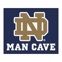 Fanmats Machine-Made Notre Dame Blue Nylon Man Cave Tailgater Mat (5' x 6')