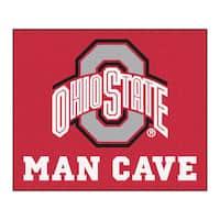 Fanmats Machine-Made Ohio State Red Nylon Man Cave Tailgater Mat (5' x 6')