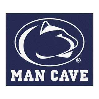 Fanmats Machine-Made Penn State Blue Nylon Man Cave Tailgater Mat (5' x 6')