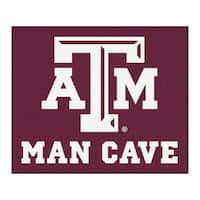Fanmats Machine-Made Texas A&M University Burgundy Nylon Man Cave Tailgater Mat (5' x 6')
