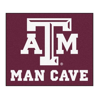 Fanmats Machine-Made Texas A&M University Burgundy Nylon Man Cave Tailgater Mat (5' x 6')