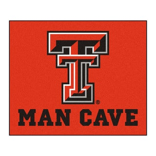 Fanmats Machine-Made Texas Tech University Red Nylon Man Cave Tailgater Mat (5' x 6')